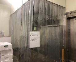 茨城県にある水産物加工業会社から冷凍保管庫内簡易凍結ブース設置を依頼されました
